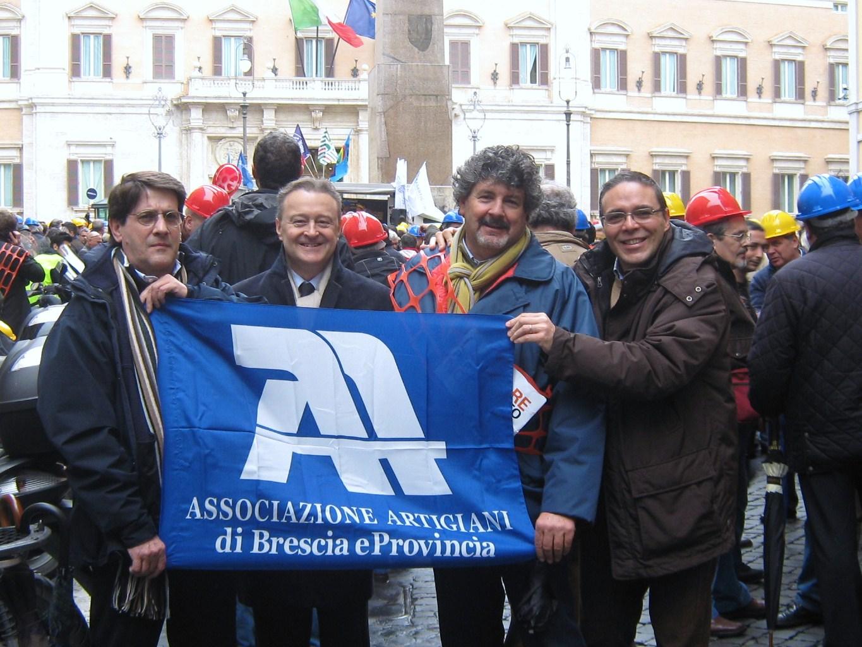 MANIFESTAZIONE DELL'EDILIZIA A ROMA dicembre 2010